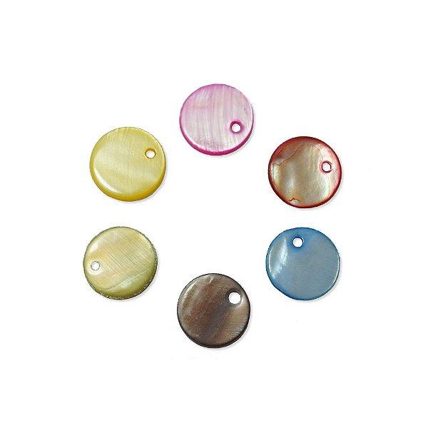 12-0056 - Pacote com 1000 Madrepérolas Redondas com Furo 13mm