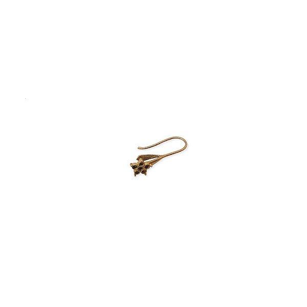 01-0832 - Pacote com 100 Ganchos em Latão para Brinco com Flor 09mmx23mm