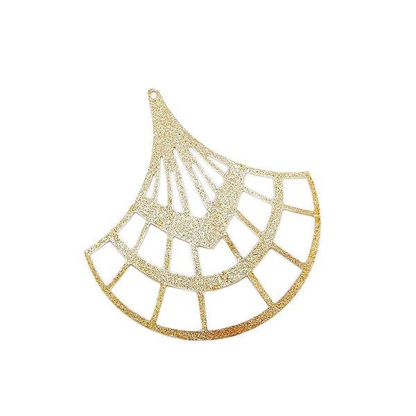 01-1742 - 1/2Kg de Estamparia Diamantada Leque 53mmx48mm