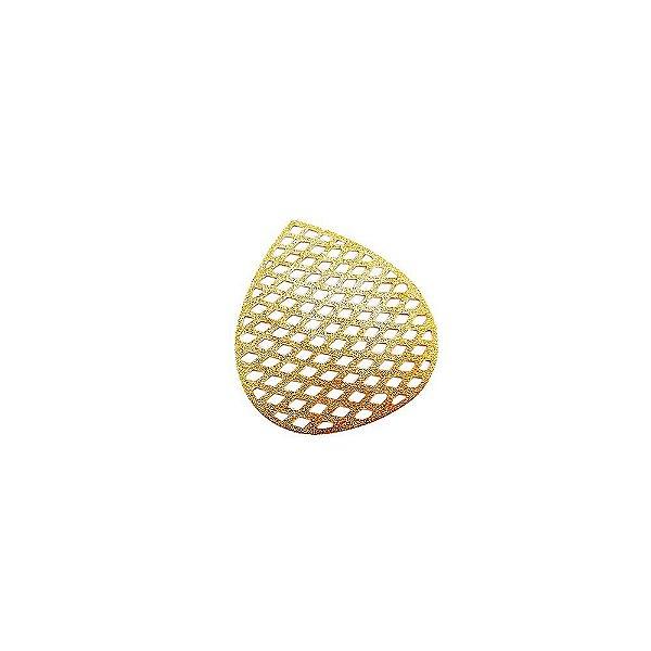 01-1752 - 1/2Kg de Estamparia Diamantada Gota Tressê 36mmx32mm