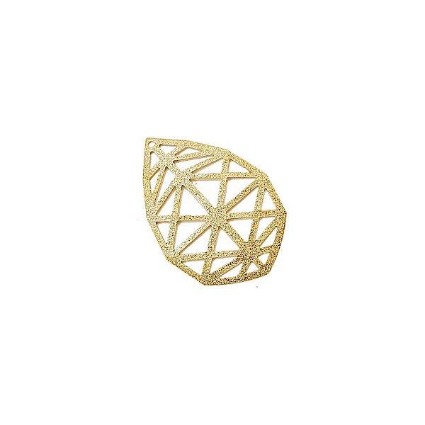 01-1754 - 1/2Kg de Estamparia Diamantada Gota Triângulos 35mmx24mm