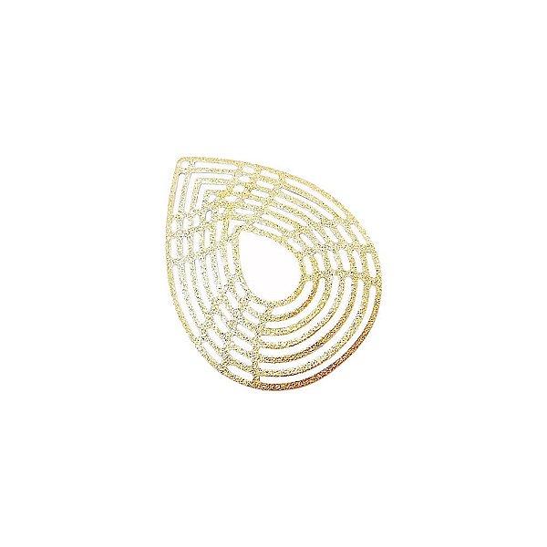 01-1745 - 1/2Kg de Estamparia Diamantada Gota 39mmx30mm
