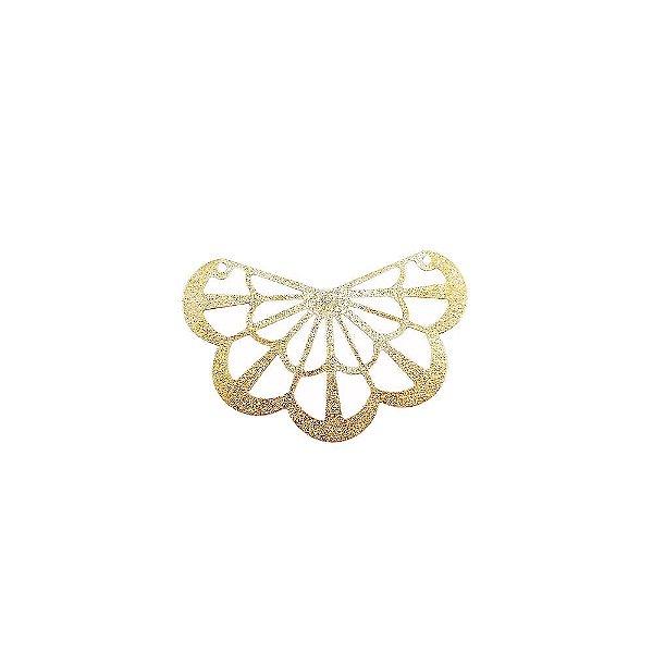 01-1747 - 1/2Kg de Estamparia Diamantada Meia Flor 44mmx31mm
