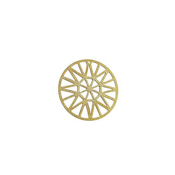 01-1568 - 1/2Kg de Estamparia Diamantada Redonda Recortes Geométricos 33mm