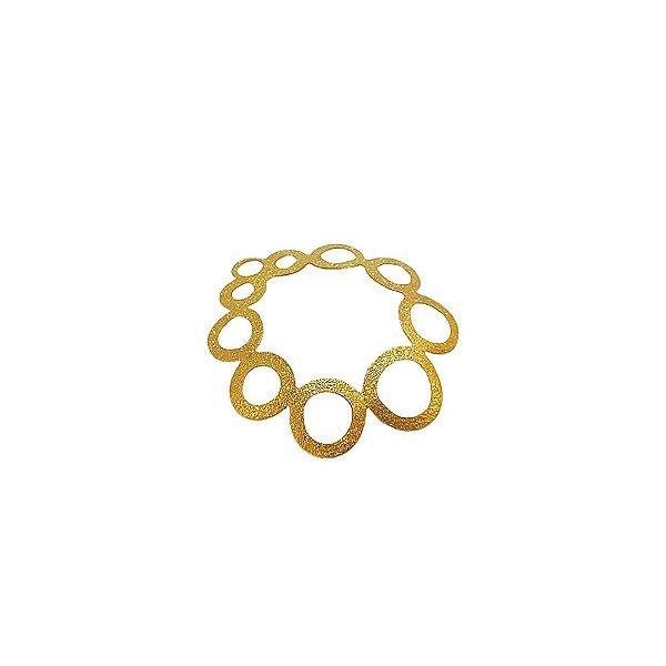 01-1646 - 1/2Kg de Estamparia Diamantada Abaulada Círculos 30mm
