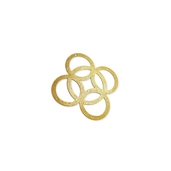 01-1653 - 1/2Kg de Estamparia Diamantada Círculos com Furo 38mm