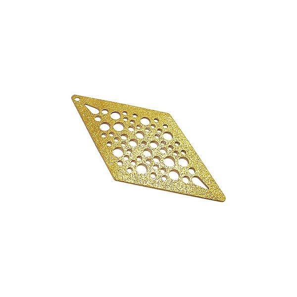 01-1654 - 1/2Kg de Estamparia Diamantada Losango com Recortes 53mmx27mm