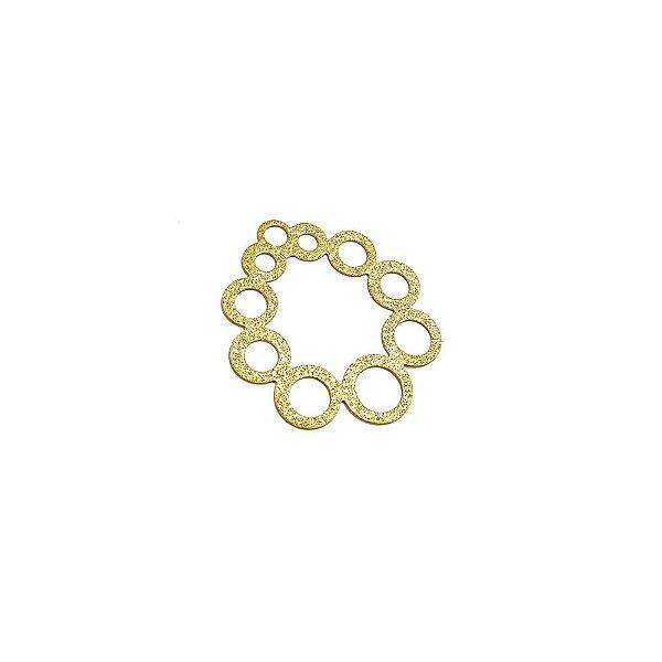 01-1656 - 1/2Kg de Estamparia Diamantada Reta Círculos 34mm