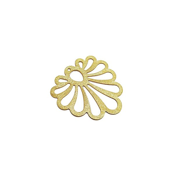 01-1659 - 1/2Kg de Estamparia Diamantada Flor de Ipê 31mm