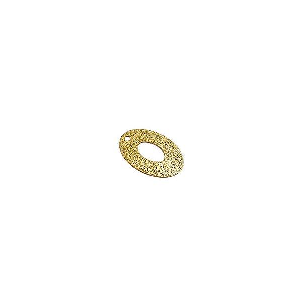 01-1411 - 1/2Kg de Estamparia Diamantada Oval Vazada 18mmx12mm