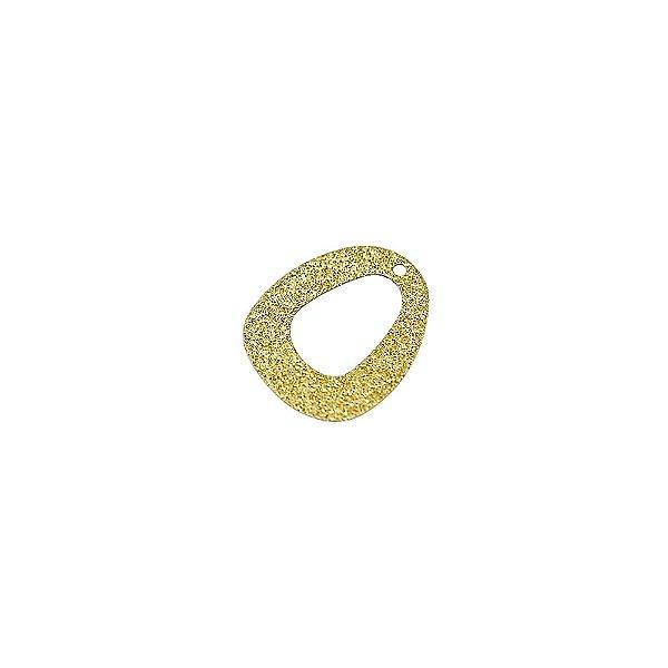 01-1490 - 1/2Kg de Estamparia Diamantada Oval  Vazada 20mmx15mm