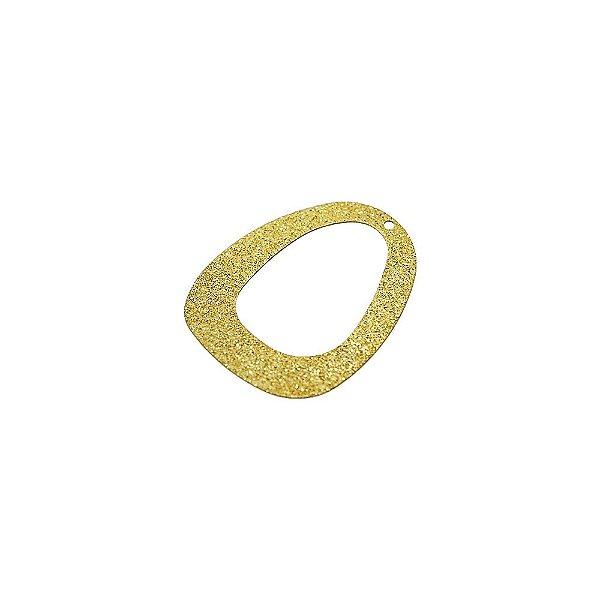 01-1485 - 1/2Kg de Estamparia Diamantada Oval Vazada 28mmx22mm
