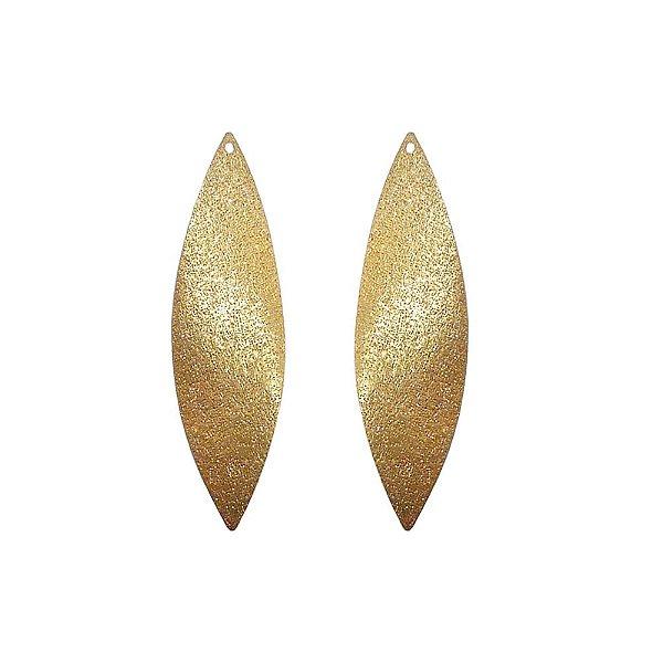 01-1206 - 1/2Kg de Estamparia Diamantada Folha Alongada Ld/ Le 52mmx15mm