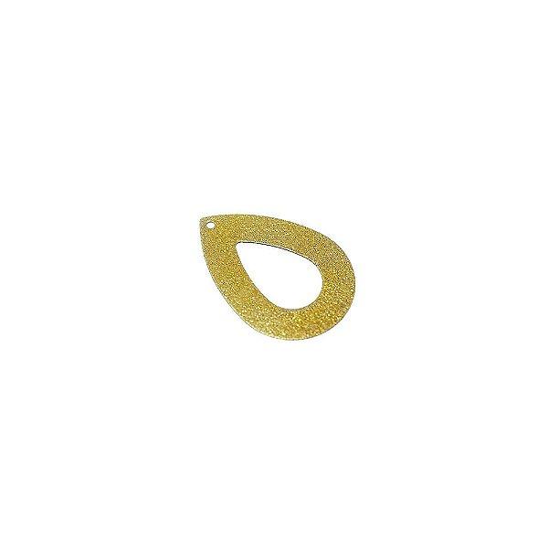 01-0916 - 1/2Kg de Estamparia Diamantada Gota Vazada 23mmx33mm