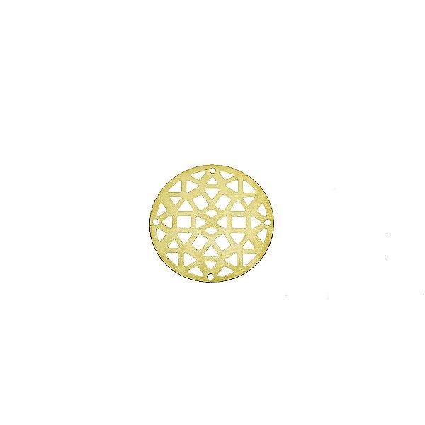 01-2086 - 1/2Kg de Estamparia Lisa Redonda Recortes Geométricos Pequena 26,5mm