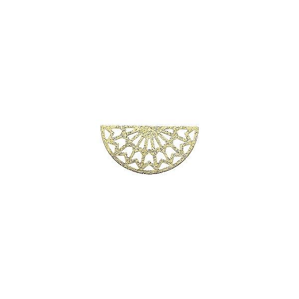 01-2095 - 1/2Kg de Estamparia Diamantada Semicírculo Tribal Pequena 25mmx12mm