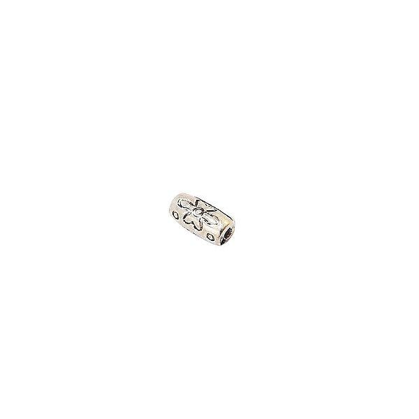 01-0850 - Pacote com 1/2 Kg de Entremeio Níquel Tubo com Flor 5mmx10mm
