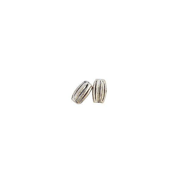 01-0851 - Pacote com 1/2 Kg de Entremeio Níquel Arroz com Entalhes 7mmx4mm