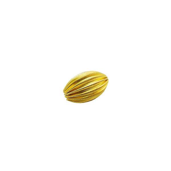 01-0083 - Pacote com 1000 Entremeios Latão Oval Entalhado 16mm