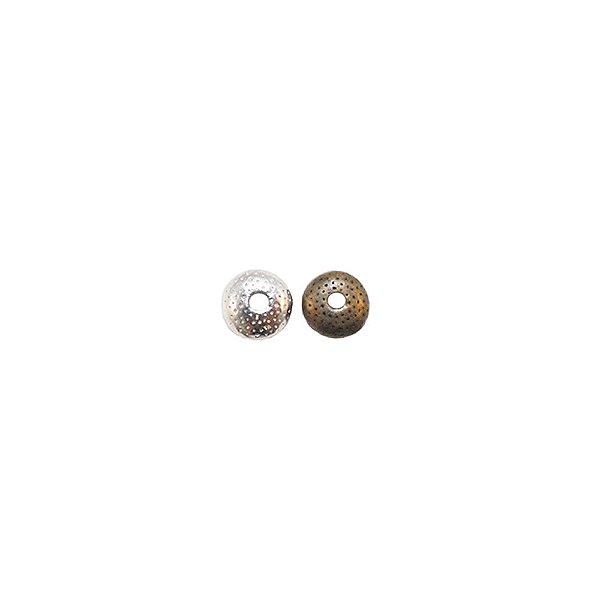 01-0882 - Pacote com 1/2 Kg de Entremeio Redondo Vazado 7,5mm