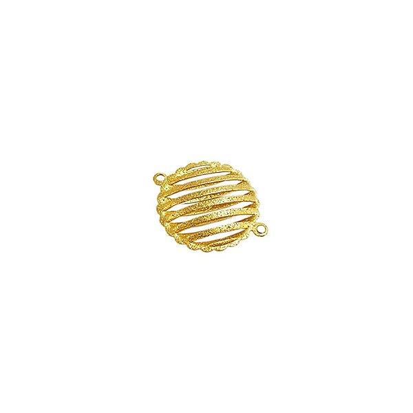 01-1050 - Pacote com 1/2Kg de Entremeio Diamantado Redondo com Recortes 20mm