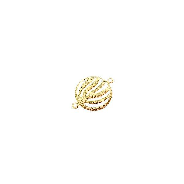 01-1778 - Pacote com 1/2 Kg de Entremeio Diamantado Redondo Vazado 16mm