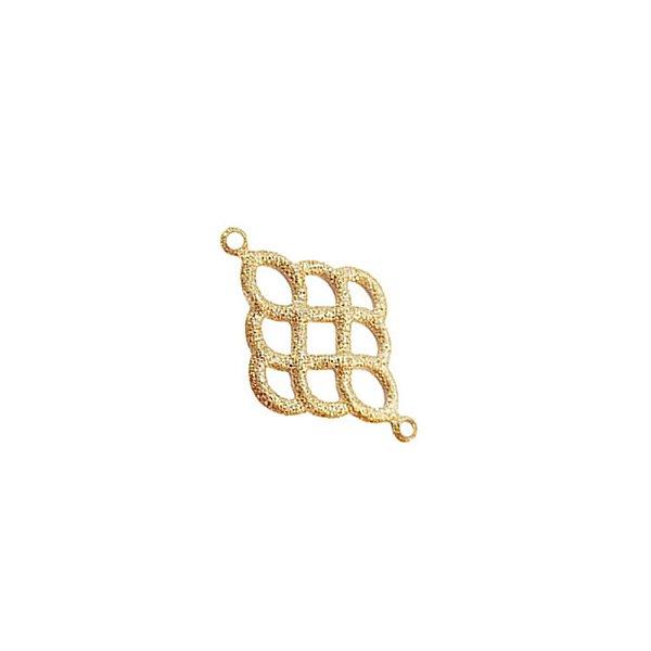 01-1769 - Pacote com 1/2Kg de Entremeio Diamantado Losango Vazado 26mmx16mm