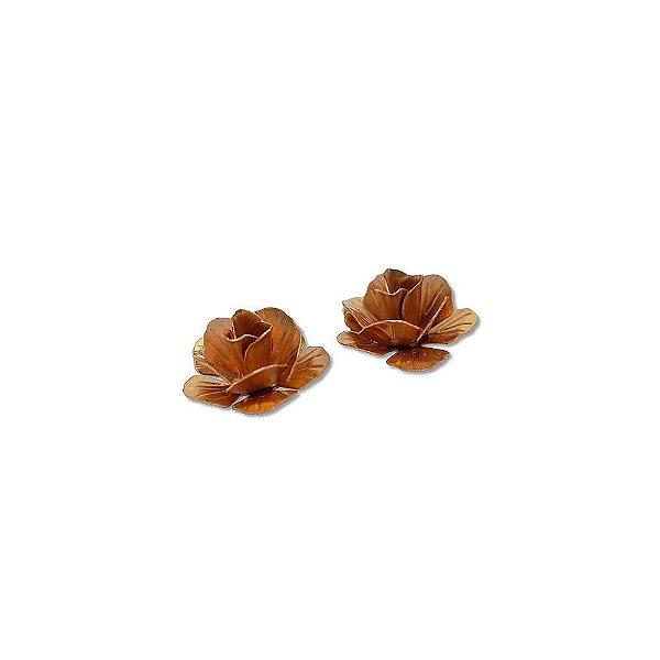 01-0556 - Pacote com 100 Flores com Pétalas em Cobre 14mm