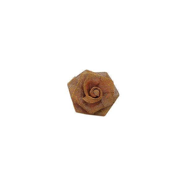 01-0736 - Pacote com 100 Flores de Tela em Latão 20mm