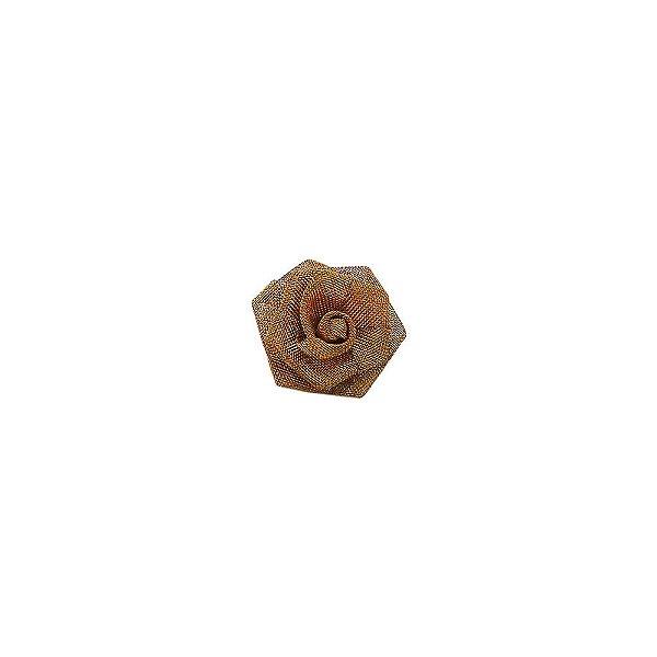 01-0737 - Pacote com 100 Flores de Tela em Latão 17mm
