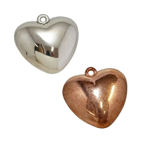 00-0273 - Pacote com 1 Kg de Pingentes Coração em ABS 36mm