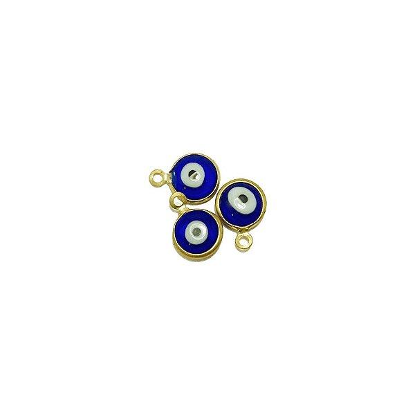 01-1857 - Pacote com 200 Pingentes em Latão Olho Grego 10mm