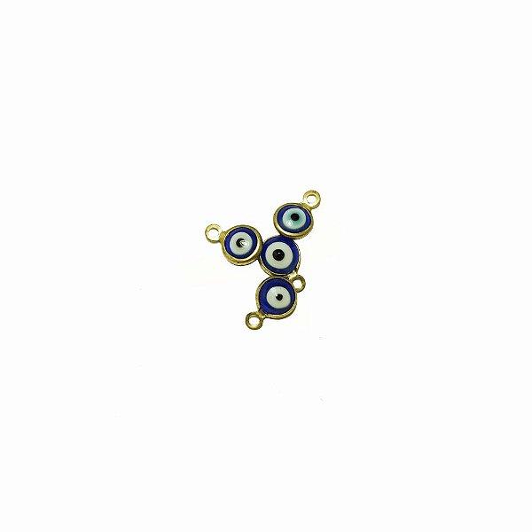 01-1855 - Pacote com 200 Pingentes em Latão Olho Grego 06mm