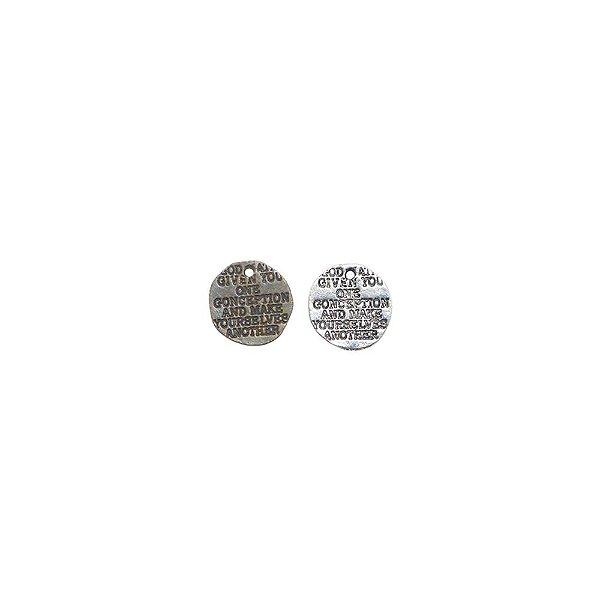 01-0867 - Pacote com 1/2 Kg de  Pingente Frase 13mm