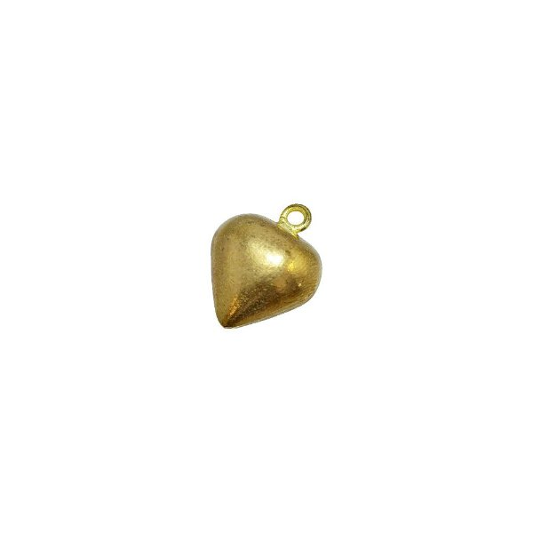 01-1061 - Pacote com 100 Pingentes em Latão Coração 12mm