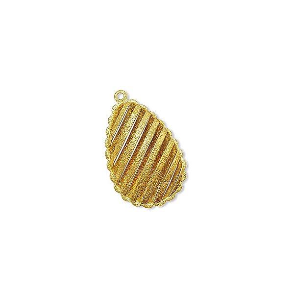 01-1051 - Pacote com 1/2 Kg de Pingente Diamantado Gota com Recortes 20mmx33mm