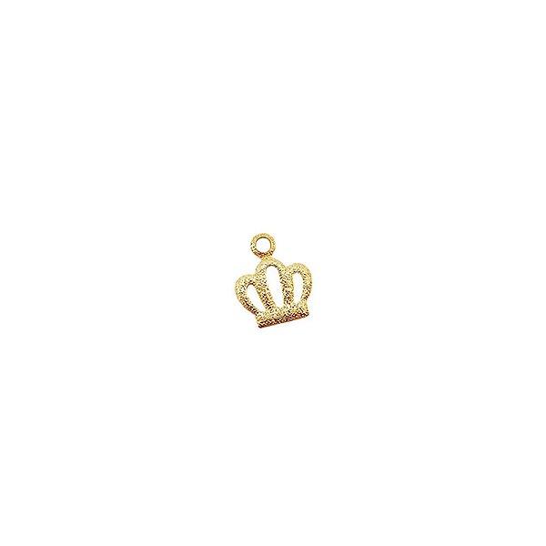 01-1767 - Pacote com 1/2 Kg de Pingentes Coroa 10mmx8mm