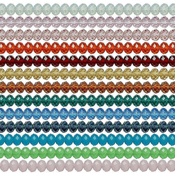 11-0090 - Pacote com 100 Discos de Vidro Facetados 9mmx12mm