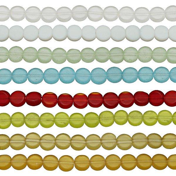 11-0061 - Fio de Discos de Vidro Fosco 8mm