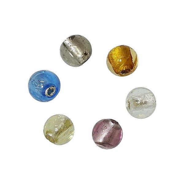 11-0056 - Pacote com 10 Bolas de Vidro Colorido 10mm