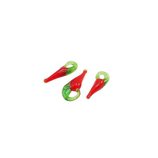 11-0152 - Pacote com 1000 Pimentas Vermelhas de Vidro P 18mmx7mm