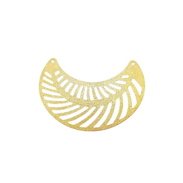 01-1744 - 1/2Kg de Estamparia Diamantada Meia Lua Vazada 50mmx25mm