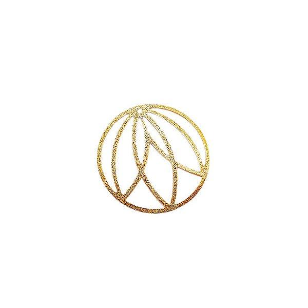 01-1757 - 1/2Kg de Estamparia Diamantada Redonda 3 Folhas 29mm