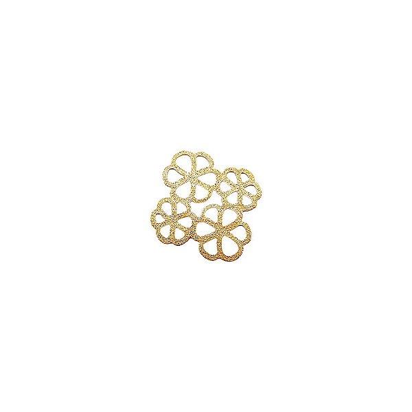 01-1765 - 1/2Kg de Estamparia Diamantada 4 Flores 27mmx25mm