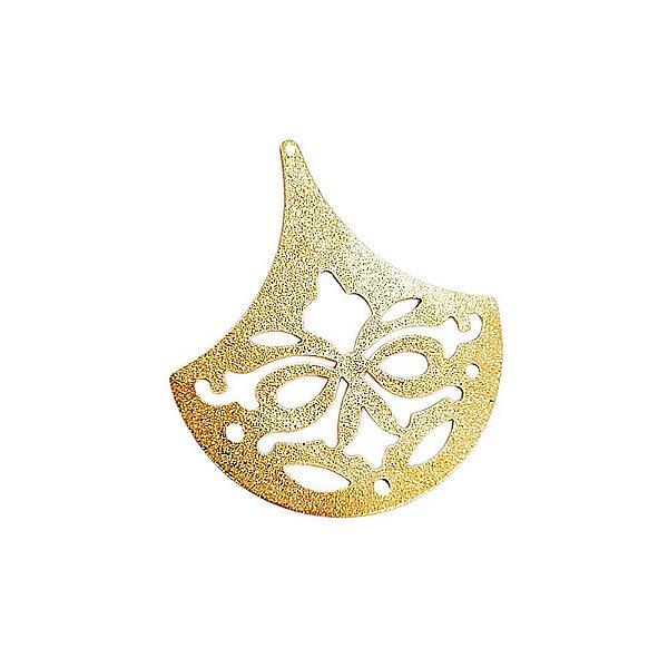 01-1755 - 1/2Kg de Estamparia Diamantada Leque Floral 50mmx45mm
