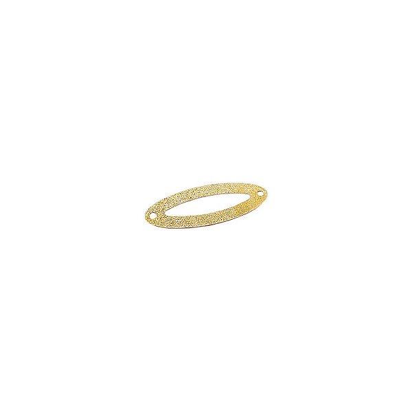 01-1779 - 1/2Kg de Estamparia Diamantada Oval Vazada 28mmx10mm