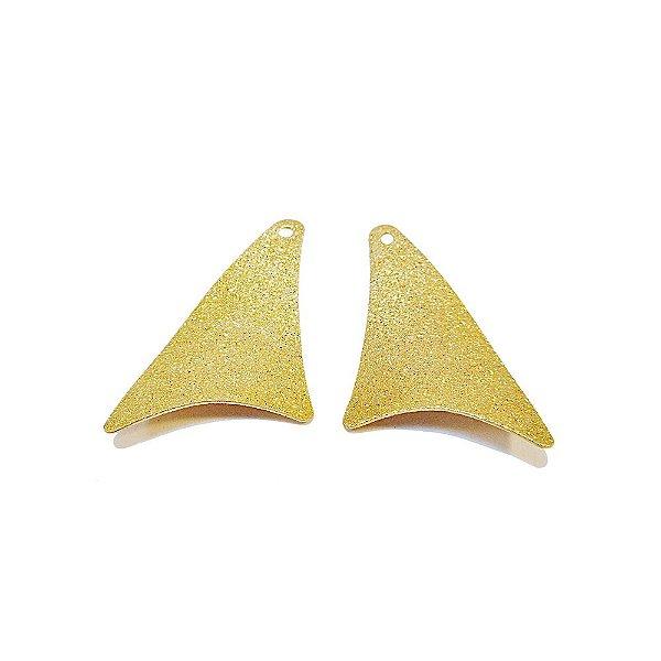 01-0952 - 1/2Kg de Estamparia Diamantada Triangular Abaulada Ld/Le 30mmx15mm