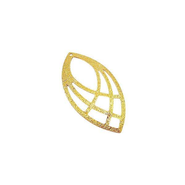 01-1552 - 1/2Kg de Estamparia Diamantada Navete com Recortes 34mmx17mm