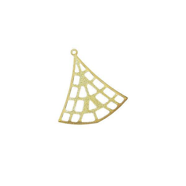 01-1632 - 1/2Kg de Estamparia Diamantada Triangular com Recortes 35mmx32mm