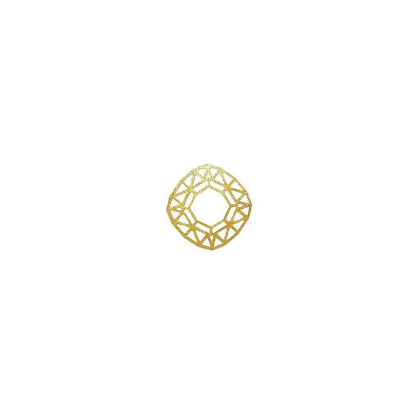 01-1566 - 1/2Kg de Estamparia Diamantada Geométrica Vazada 12mm